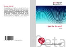 Bookcover of Special Journal