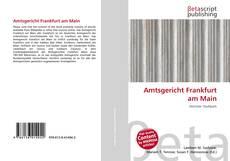 Buchcover von Amtsgericht Frankfurt am Main