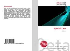 Bookcover of Special Law