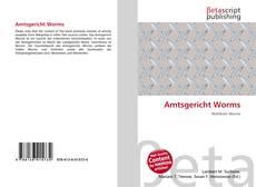 Amtsgericht Worms kitap kapağı