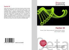 Bookcover of Factor IX