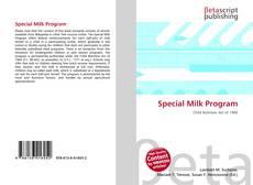 Capa do livro de Special Milk Program