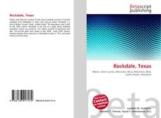 Bookcover of Rockdale, Texas