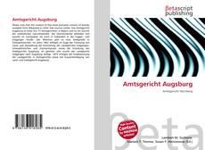 Capa do livro de Amtsgericht Augsburg