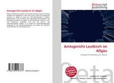 Bookcover of Amtsgericht Leutkirch im Allgäu