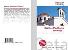 Couverture de Baselios Marthoma Didymos I.