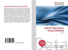 Bookcover of Special Operations Group (UNSOG)