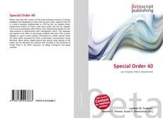 Couverture de Special Order 40