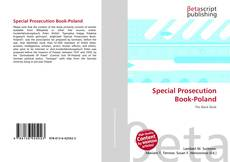 Bookcover of Special Prosecution Book-Poland