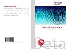 Bookcover of Special Rapporteur