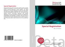 Bookcover of Special Registration