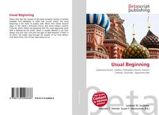 Bookcover of Usual Beginning