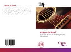 Bookcover of August de Boeck