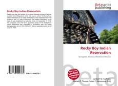 Bookcover of Rocky Boy Indian Reservation