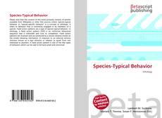 Capa do livro de Species-Typical Behavior
