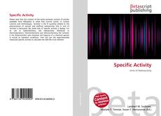 Bookcover of Specific Activity