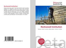 Bookcover of Rockwood Institution