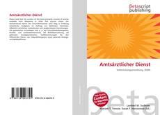 Capa do livro de Amtsärztlicher Dienst