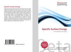 Specific Surface Energy kitap kapağı