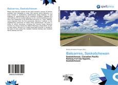 Copertina di Balcarres, Saskatchewan