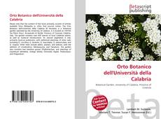 Copertina di Orto Botanico dell'Università della Calabria