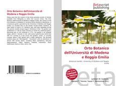 Bookcover of Orto Botanico dell'Università di Modena e Reggio Emilia