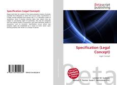 Couverture de Specification (Legal Concept)