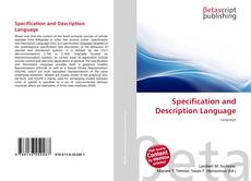 Capa do livro de Specification and Description Language