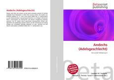 Buchcover von Andechs (Adelsgeschlecht)