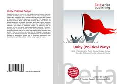 Bookcover of Unity (Political Party)