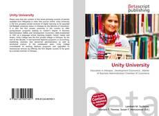 Buchcover von Unity University