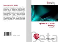 Bookcover of Spectacle (Critical Theory)