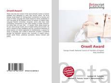 Orwell Award的封面