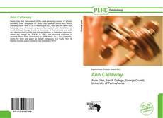 Bookcover of Ann Callaway