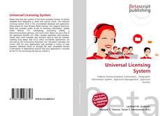Universal Licensing System kitap kapağı