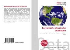 Buchcover von Baryonische akustische Oszillation