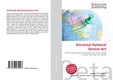 Bookcover of Universal National Service Act