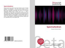Bookcover of Spectrahedron