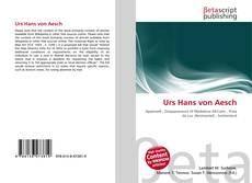 Bookcover of Urs Hans von Aesch