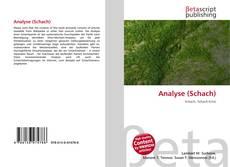Copertina di Analyse (Schach)