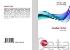Capa do livro de Analysis fidei
