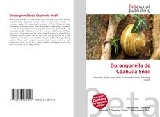 Обложка Durangonella de Coahuila Snail