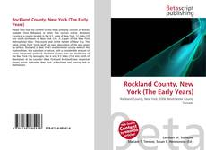 Capa do livro de Rockland County, New York (The Early Years)