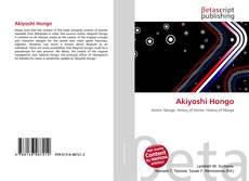 Buchcover von Akiyoshi Hongo