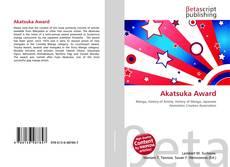 Bookcover of Akatsuka Award