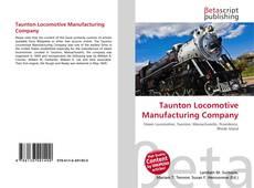 Taunton Locomotive Manufacturing Company kitap kapağı