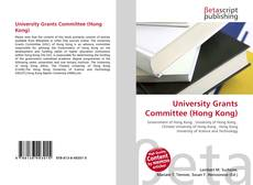 Bookcover of University Grants Committee (Hong Kong)