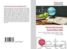 Capa do livro de University Grants Committee (UK)