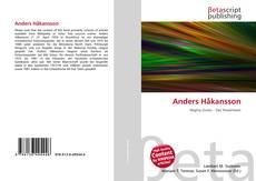 Capa do livro de Anders Håkansson