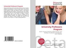 Capa do livro de University Professors Program